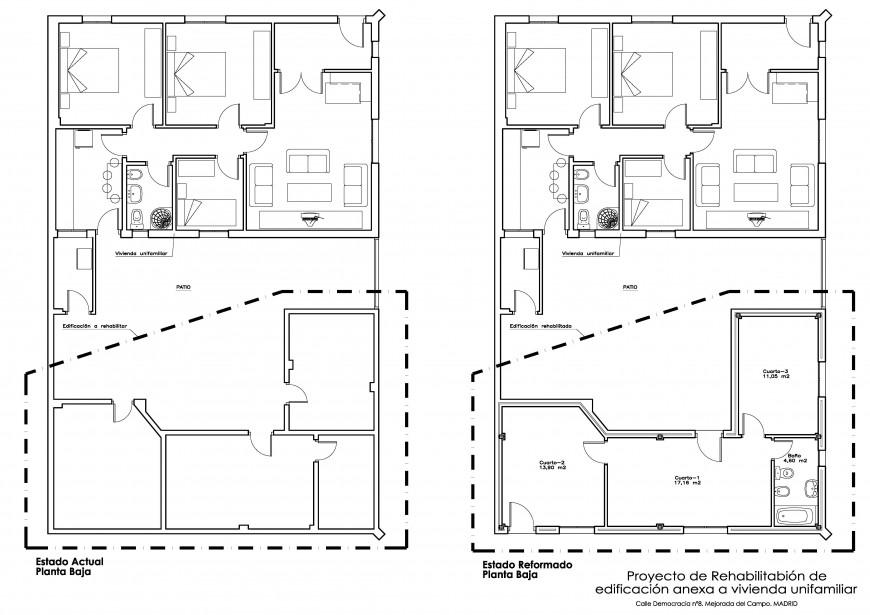 Rehabilitación edificio anexo a vivienda